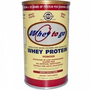 Whey to Go Protein 340g Solgar